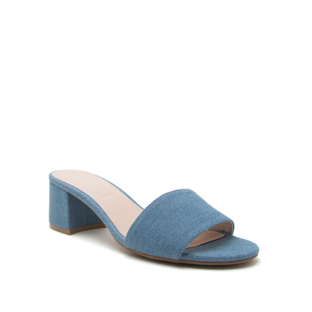 Katz-43X Light Blue Denim Mule Sandal