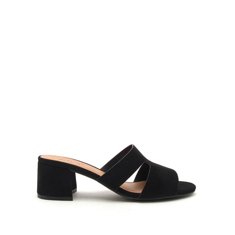 Katz-78 Black Mule Cut Out Sandals