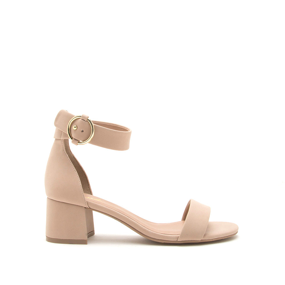 Katz-79 Warm Taupe Single Band Ankle Strap Sandals