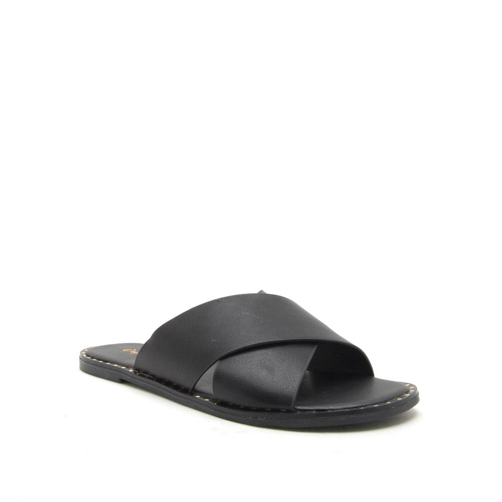 Kazen-13X Black X Band Sandals