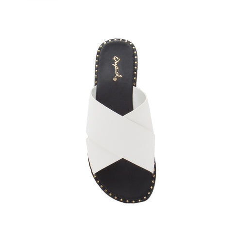 Kazen-13X White X Band Sandals