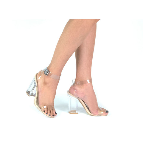 KLOUDE-07 Clear Clear High Heel