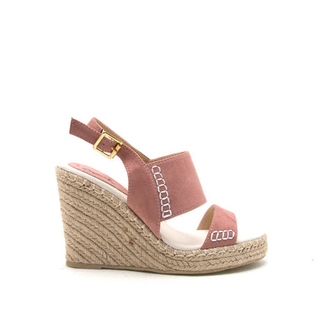 KNOX-01XX Mauve 2 Band Wedge Sandal