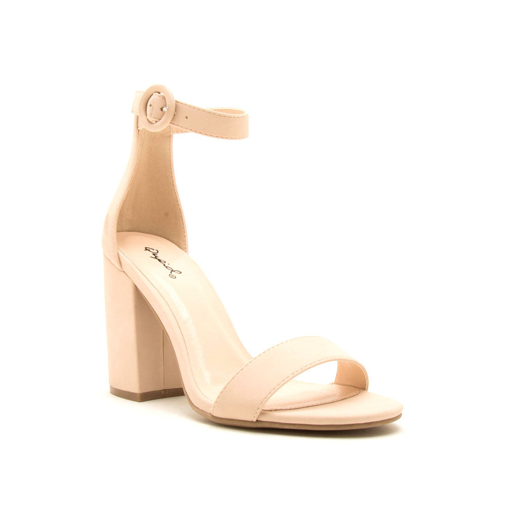 Lake-01 Nude Nubuck One Band Ankle Strap Sandal