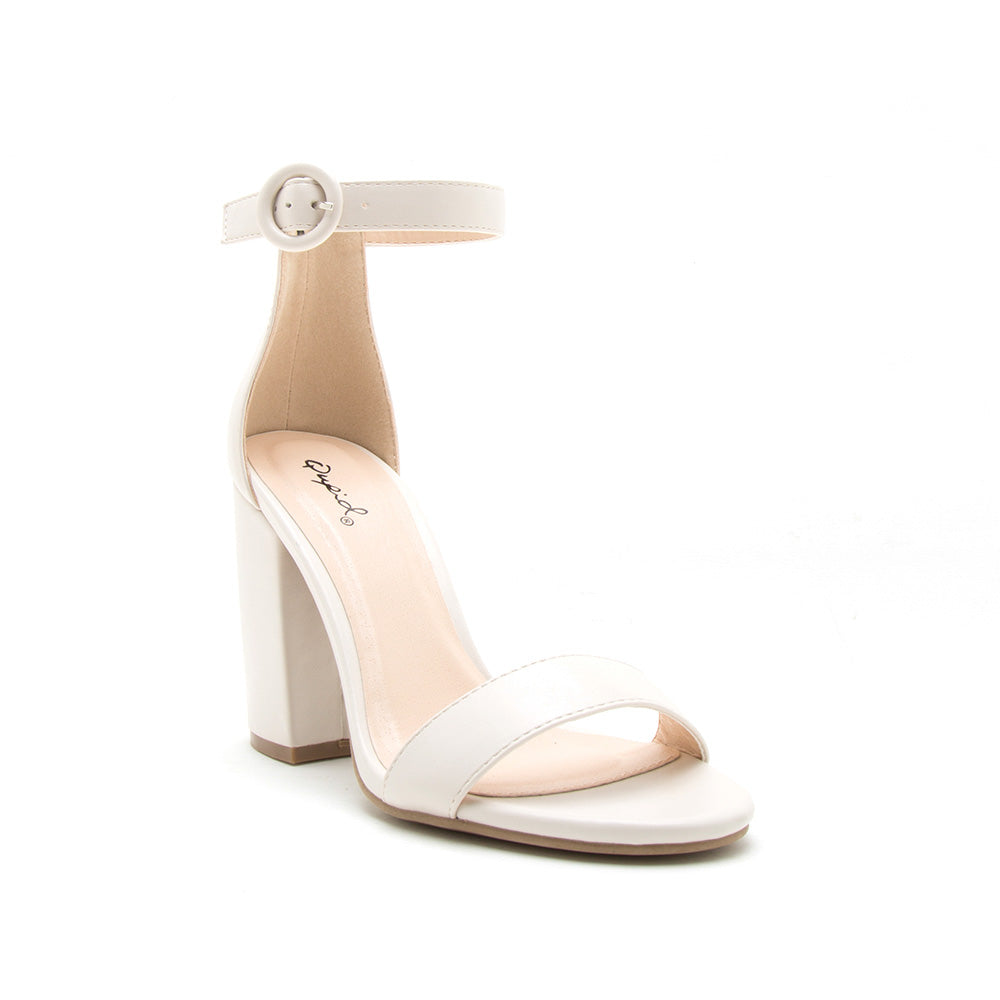 Lake-01 Off White One Band Ankle Strap Sandal