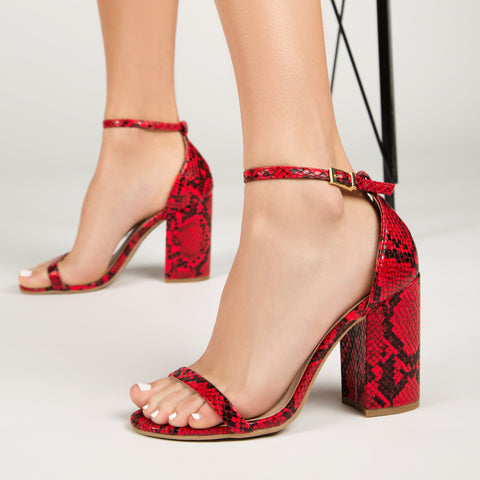 Lake-25 Red Black Snake Single Band Heel