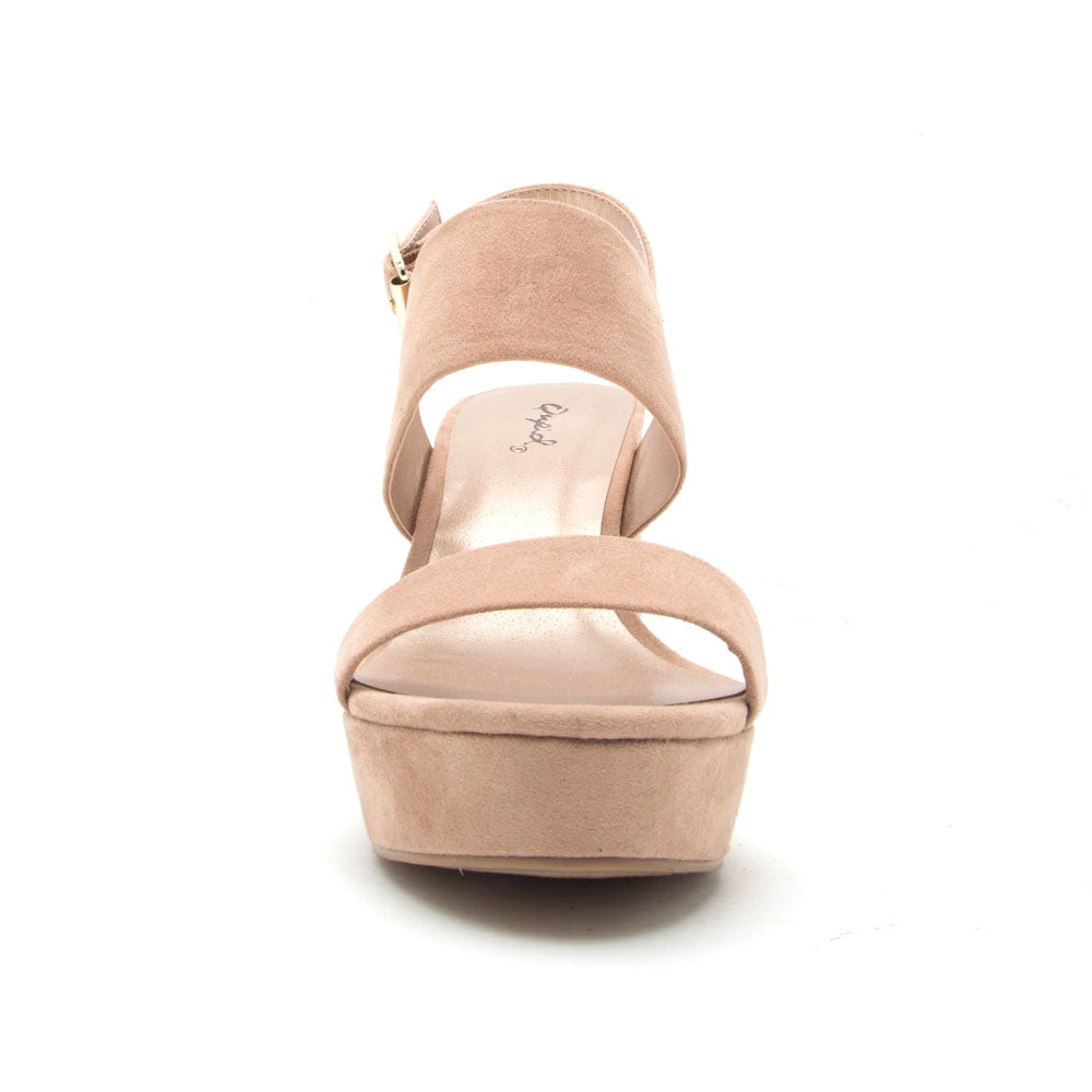 Lawson-14 Warm Taupe Double Band Slingback Sandals