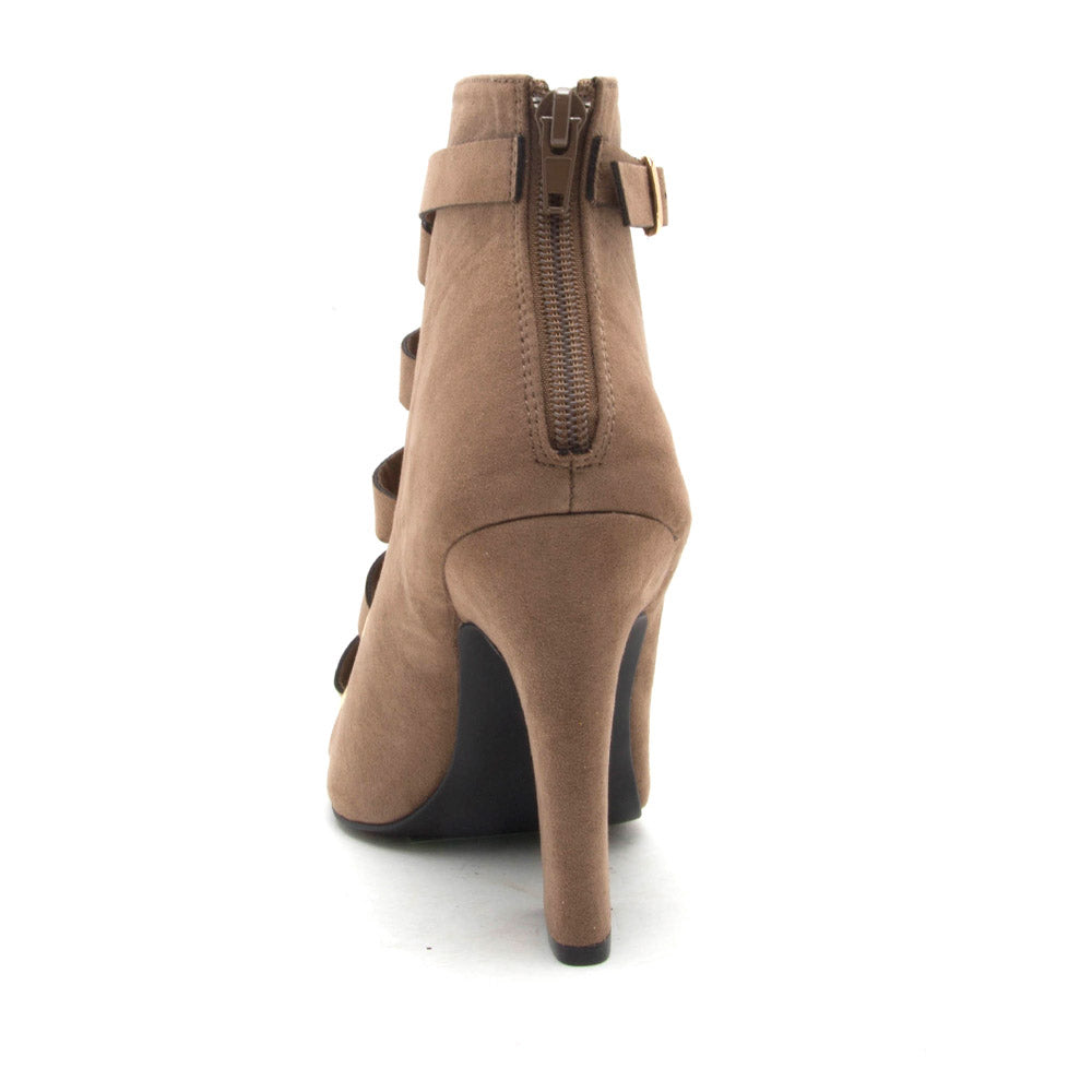 Lite-04 Taupe Lace Up Bootie