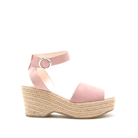 Logan-01XX Desert Rose Ankle Strap Wedges