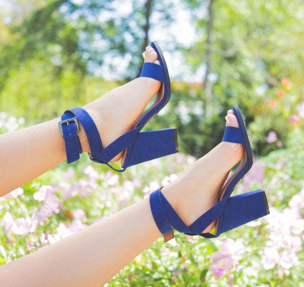 Lost-01 Indigo Blue Strappy Sandal