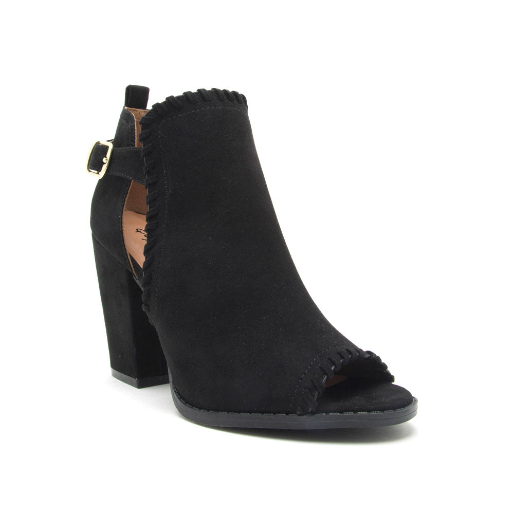 Lost-43X Black Peep Toe Bootie