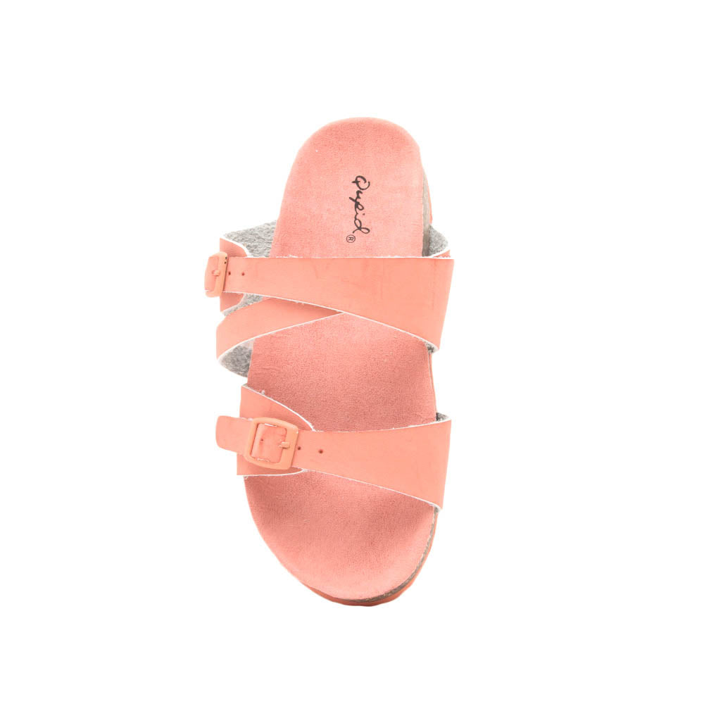 Luka-05 Salmon Strappy Sandals