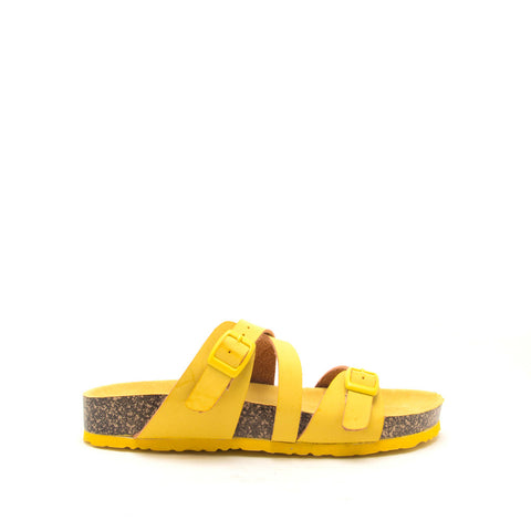 Luka-05 Yellow Strappy Sandals