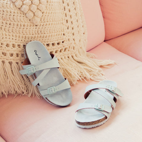 Luka-05 Ash Blue Strappy Sandals
