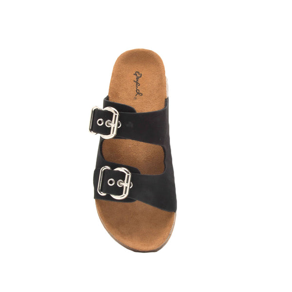 Luka-06 Black Double Band Sandals