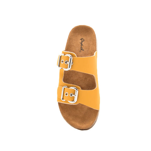 Luka-06 Saffron Double Band Sandals