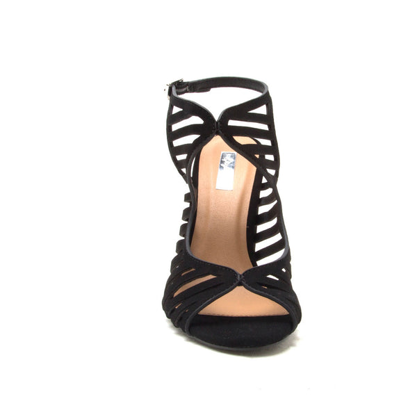 LYRA-02 Black Cut Out Caged Sandal