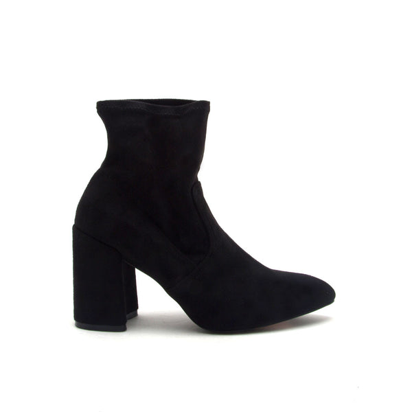 Mariko-06 Black Sock Bootie