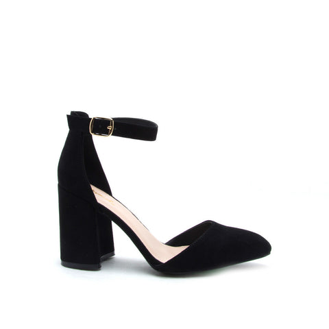 Mariko-18 Black Mary Jane Heel