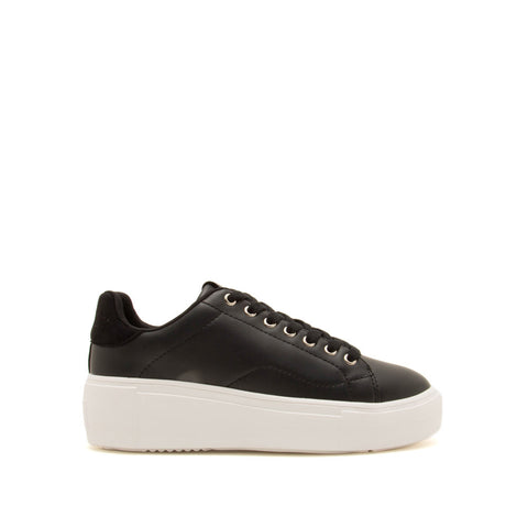 Maxmino-01 Black Lace Up Sneakers