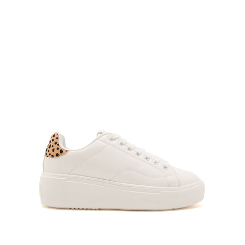 Maxmino-01 White Lace Up Sneakers