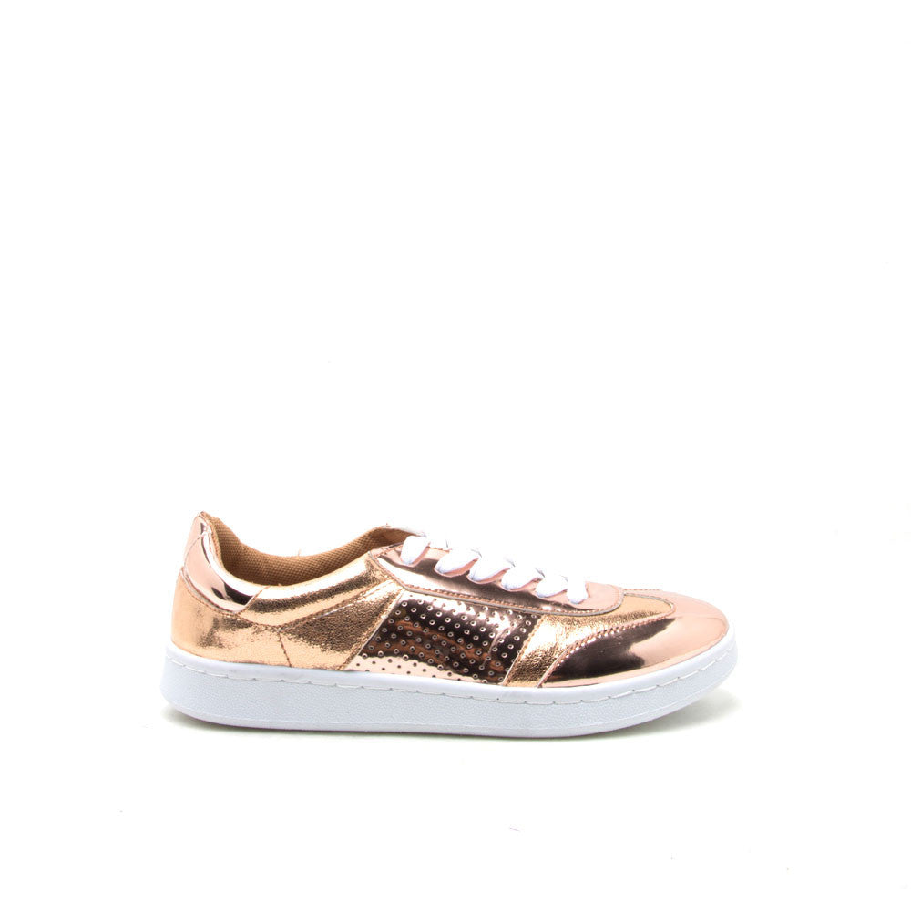 MENTOR-04 Rose Gold Sneaker Trainers