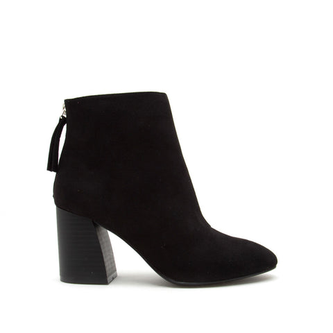 Metis-02B Black Suede Booties
