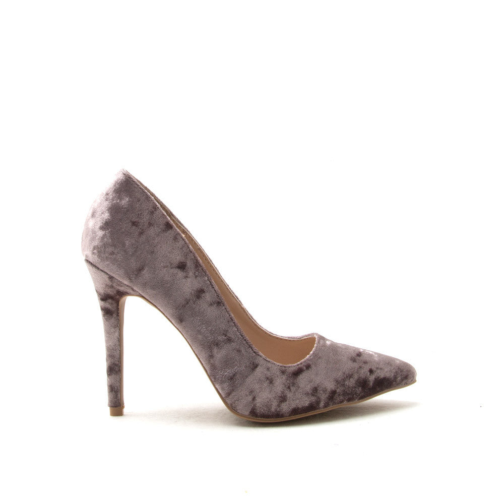 MILIA-01 Mauve Velvet Pointed Pump