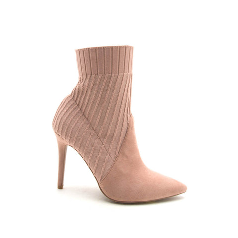 Milia-137 Blush Knit Booties