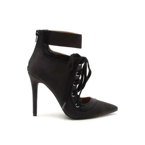 MILIA-70 Black Lace Up Bootie