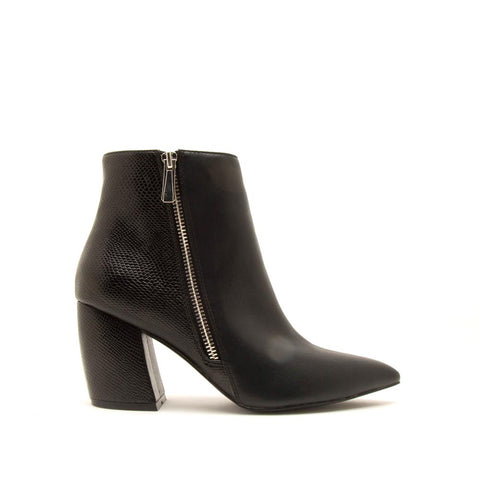Milkway-22 Black Side Zipper On Booties