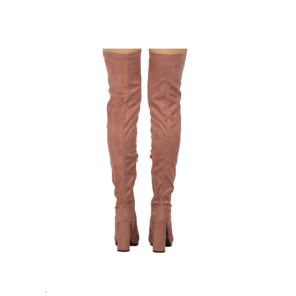 Miss-15X Mauve Thigh High Boots