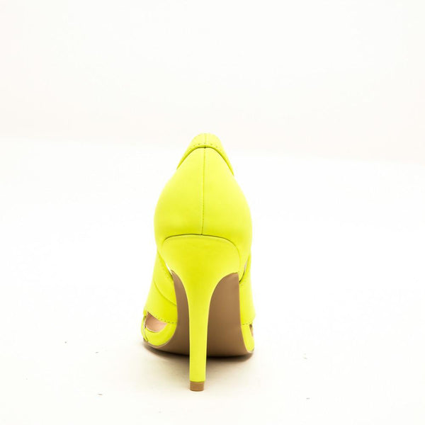 Qupid MIXI-59 Neon Yellow Back View