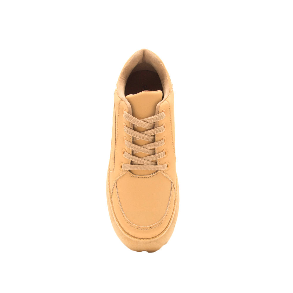 Moffe-02 Tan Lace Up Sneakers