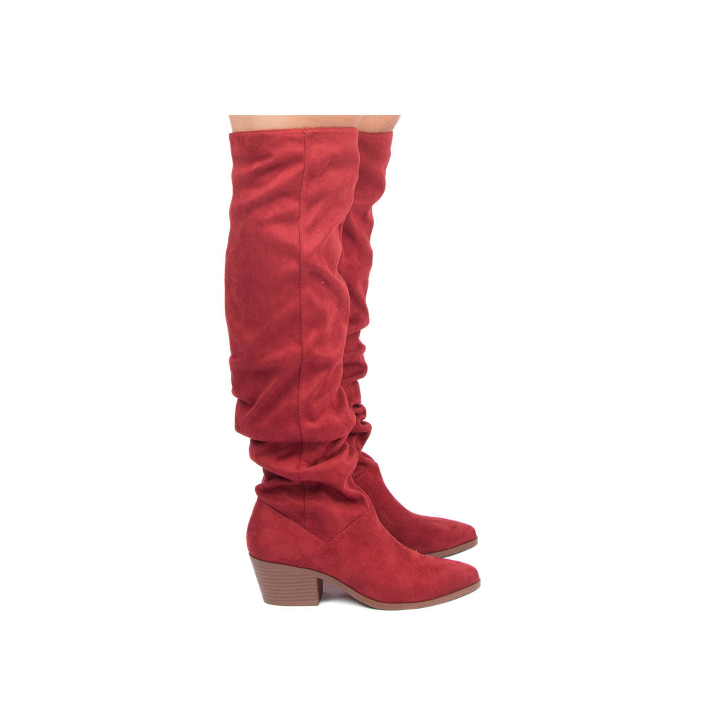 Montana-24 Adobe Red Slouchy Over The Knee Boot