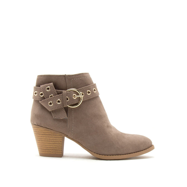 Morrison-01 Dark Taupe Belted Bootie