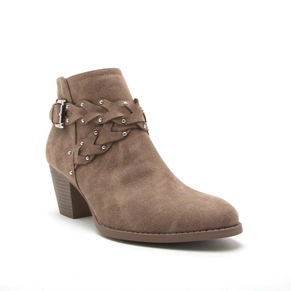 Morrison-24X Taupe Braided Bootie