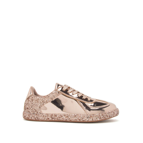 Movement-01 Rose Gold Lace Up Metallic Sneaker