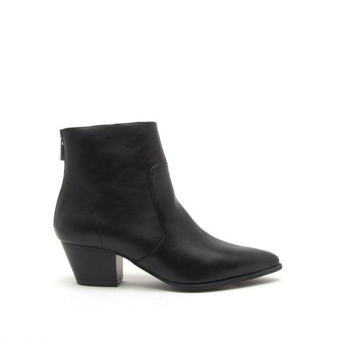 Mystique-01 Black Crinkled Bootie