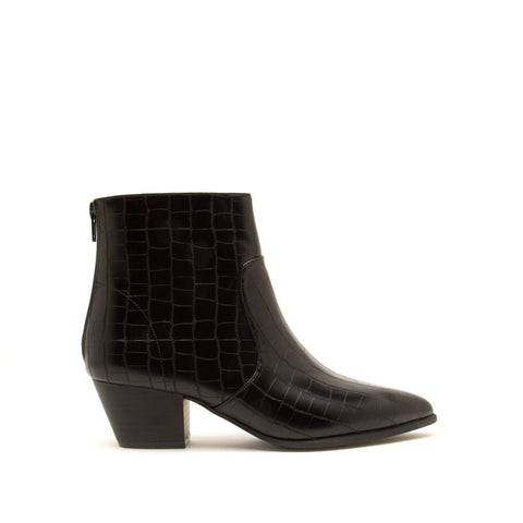 Mystique-01X Black Crocodile Booties