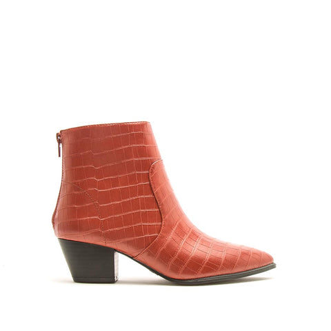 Mystique-01X Brick Crocodile Booties