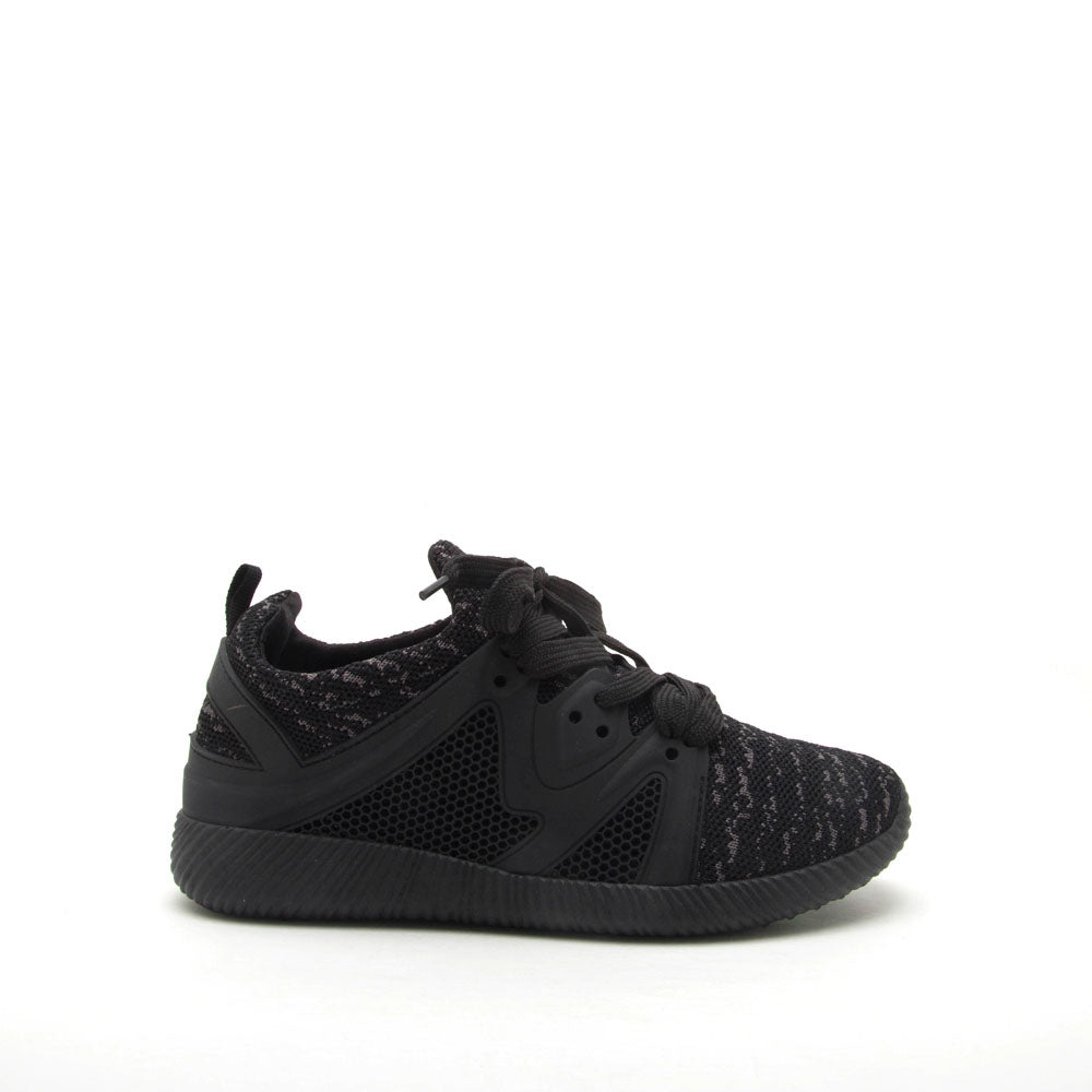 Nacara-13 Black Lace Up Sneaker