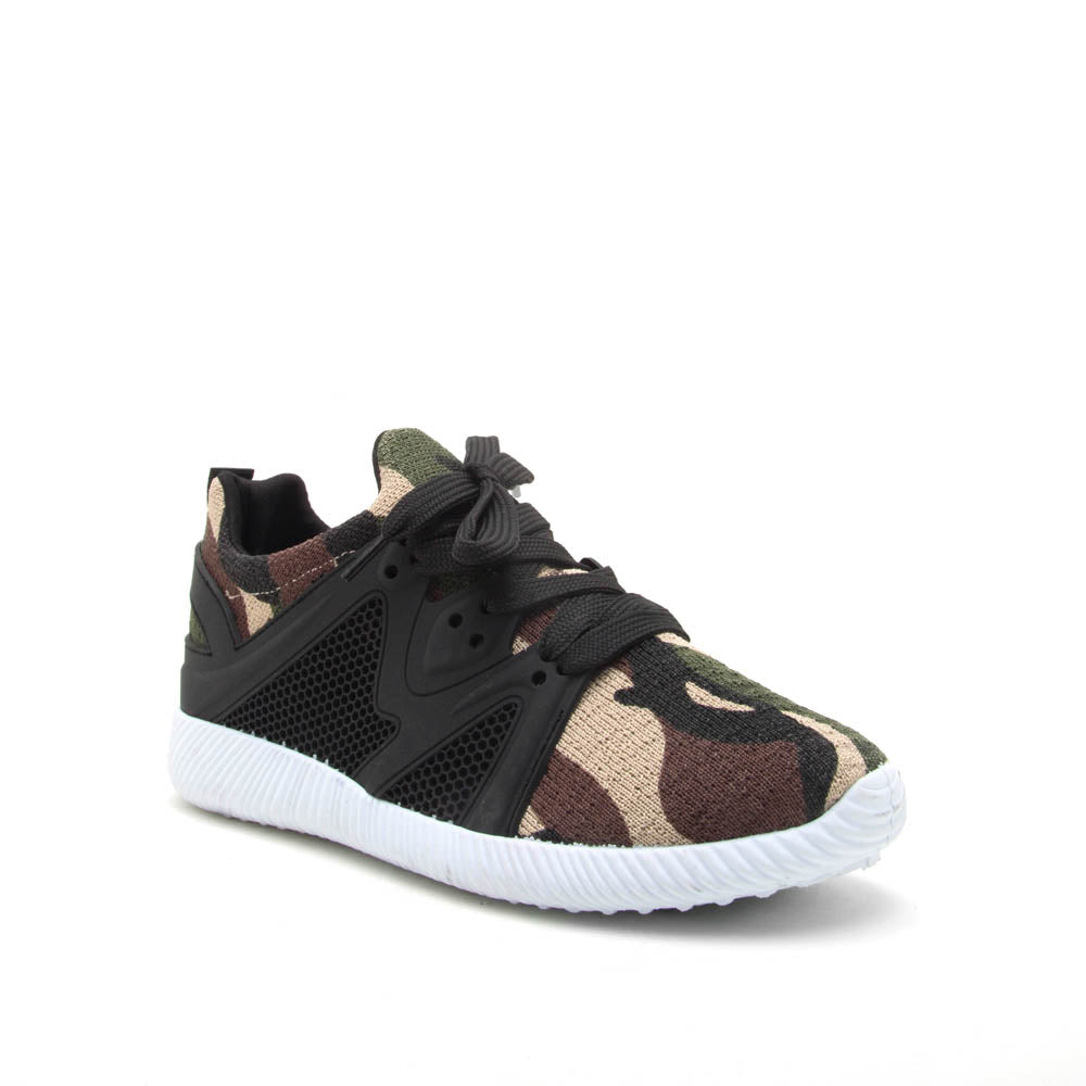 Nacara-13 Khaki Camo Lace Up Sneaker