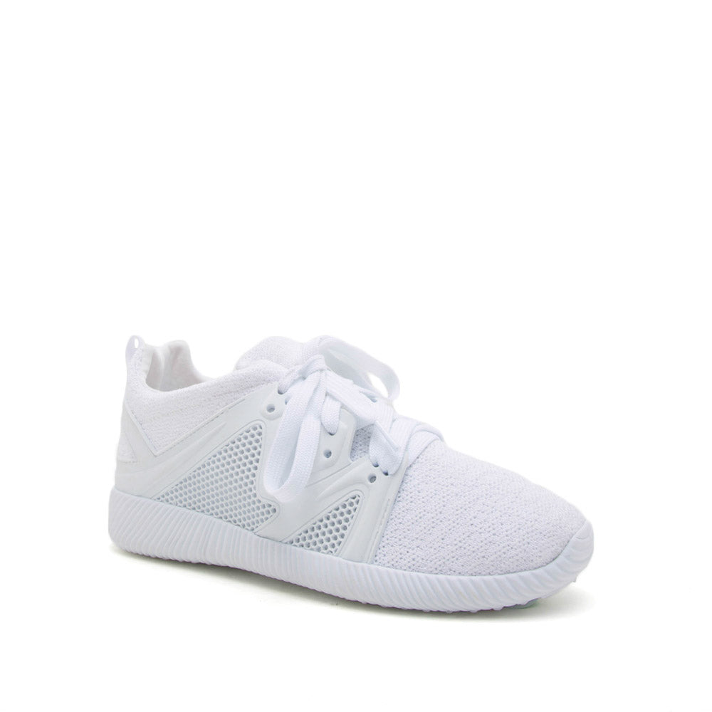 Nacara-13 White Lace Up Sneaker