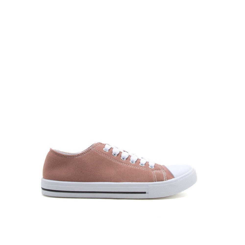 NARNIA-01 Mauve Suede Lace Up Sneaker