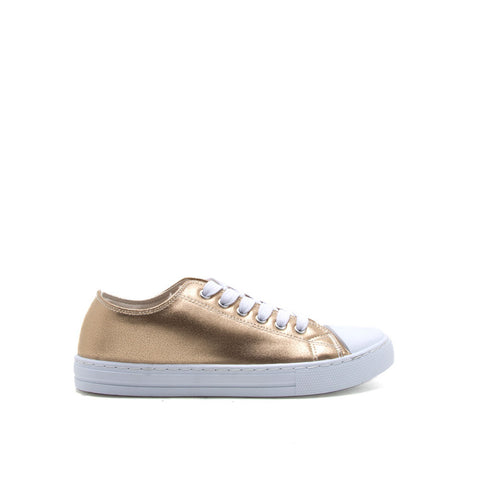 NARNIA-03 Gold Lace Up Sneaker