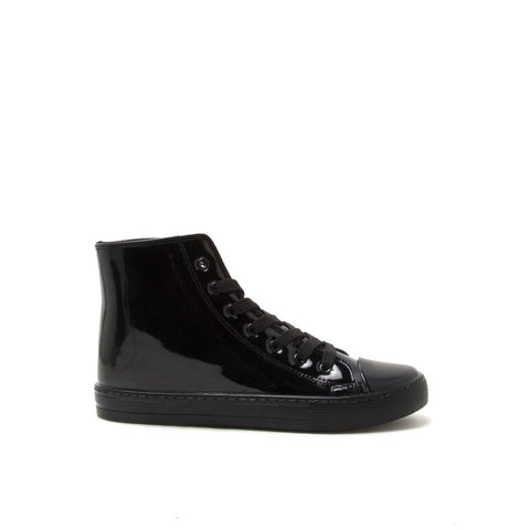 NARNIA-08 Black Monochrome High Top Casual Sneaker