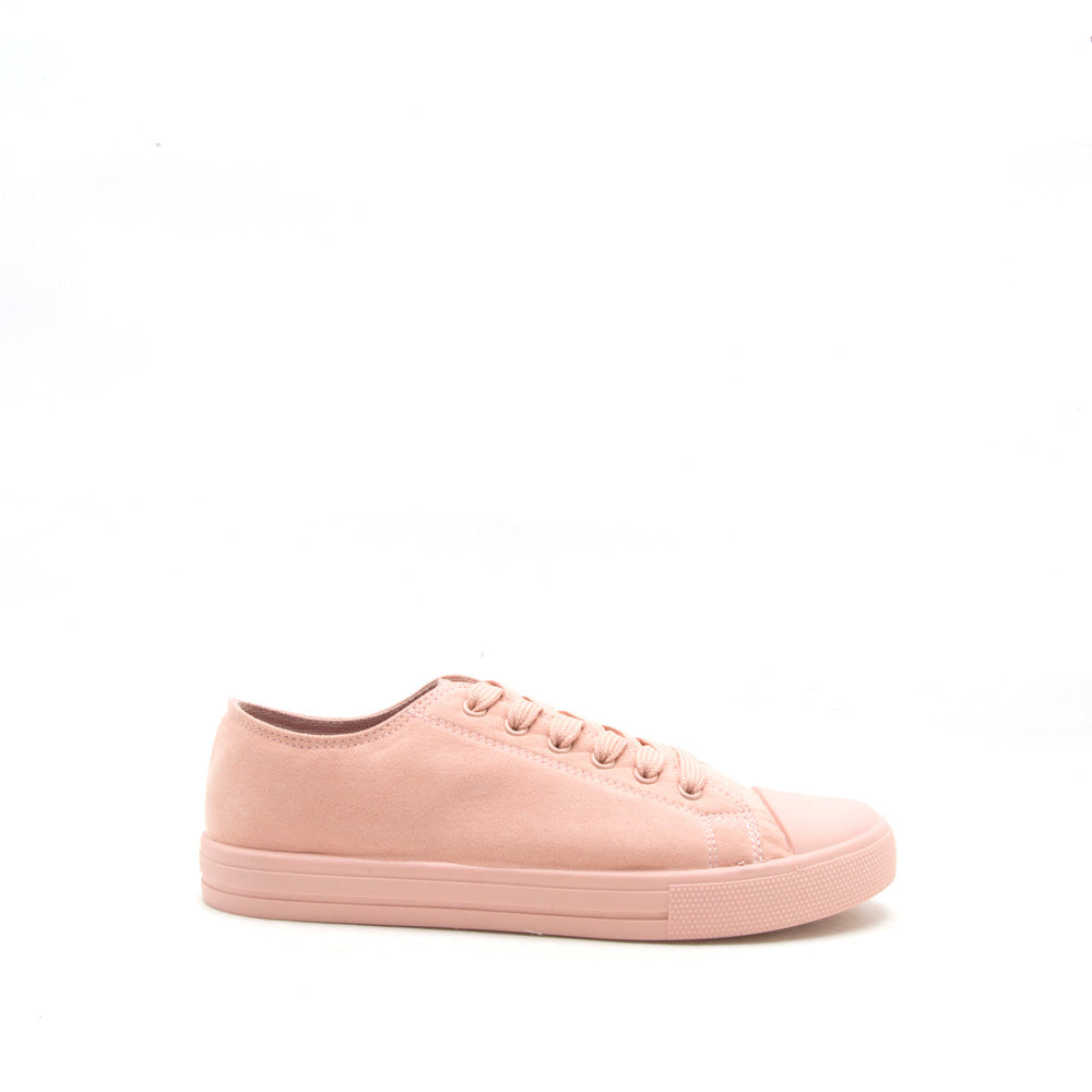 Narnia-10 Soft Blush Lace Up Sneaker