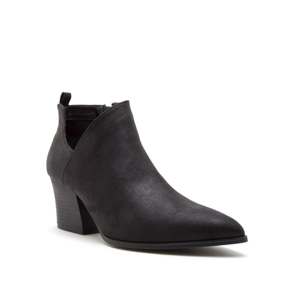 Nava-08 Black Side Panel Booties