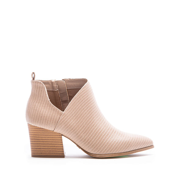 Nava-08 Taupe Lizard Side Panel Booties